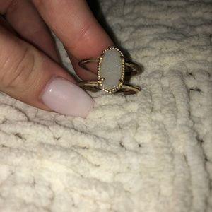 white Kendra scott ring